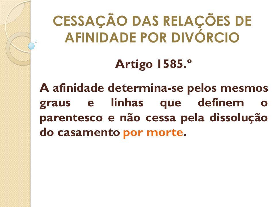 CESSAÇÃO DAS RELAÇÕES DE AFINIDADE POR DIVÓRCIO