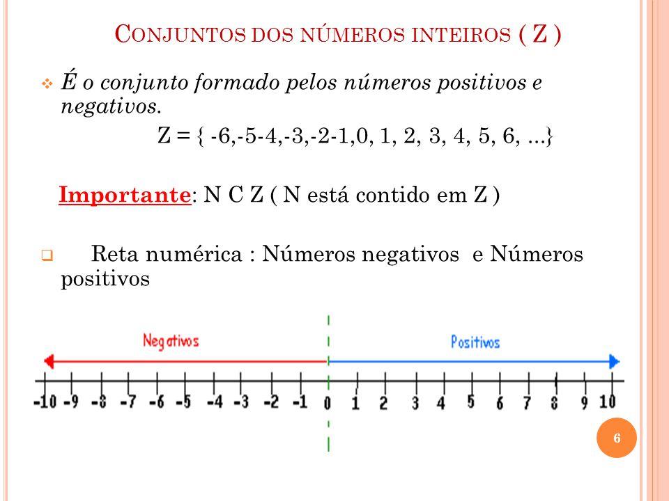 Conjuntos dos números inteiros ( Z )