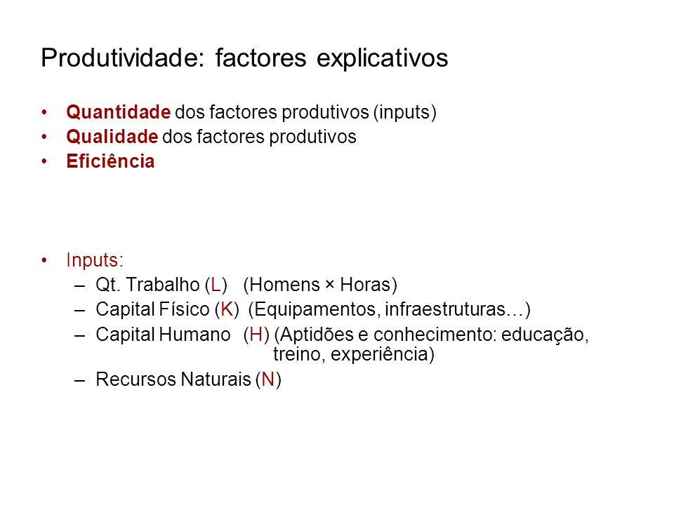 Produtividade: factores explicativos