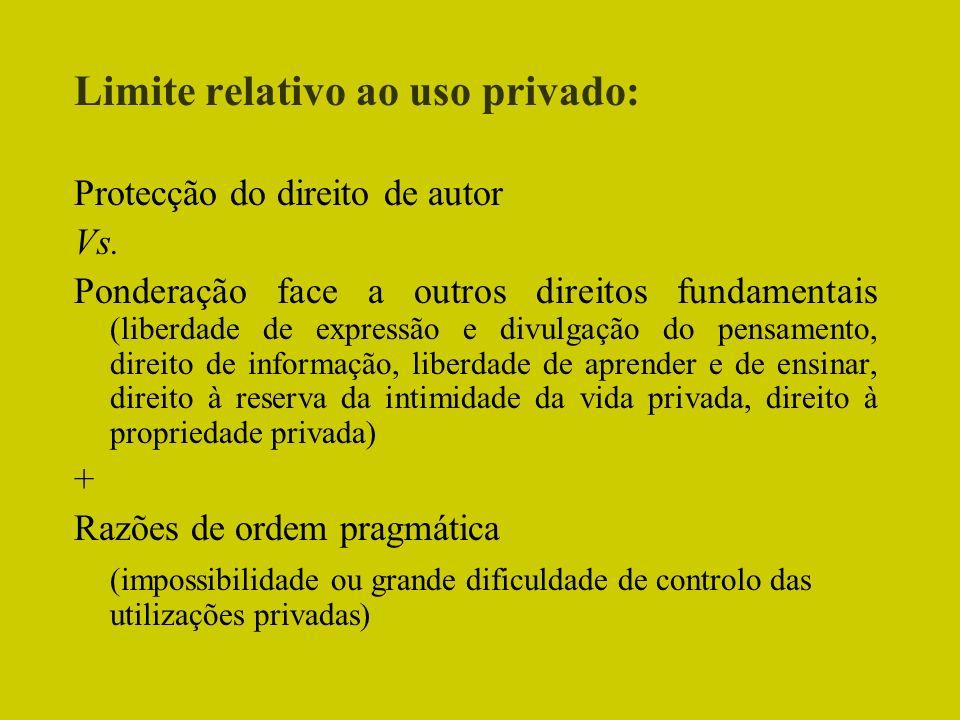 Limite relativo ao uso privado: