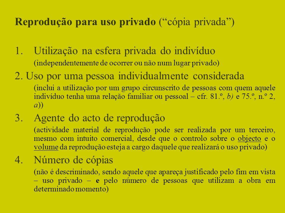 Reprodução para uso privado ( cópia privada )