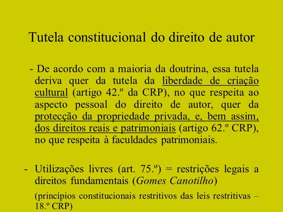Tutela constitucional do direito de autor