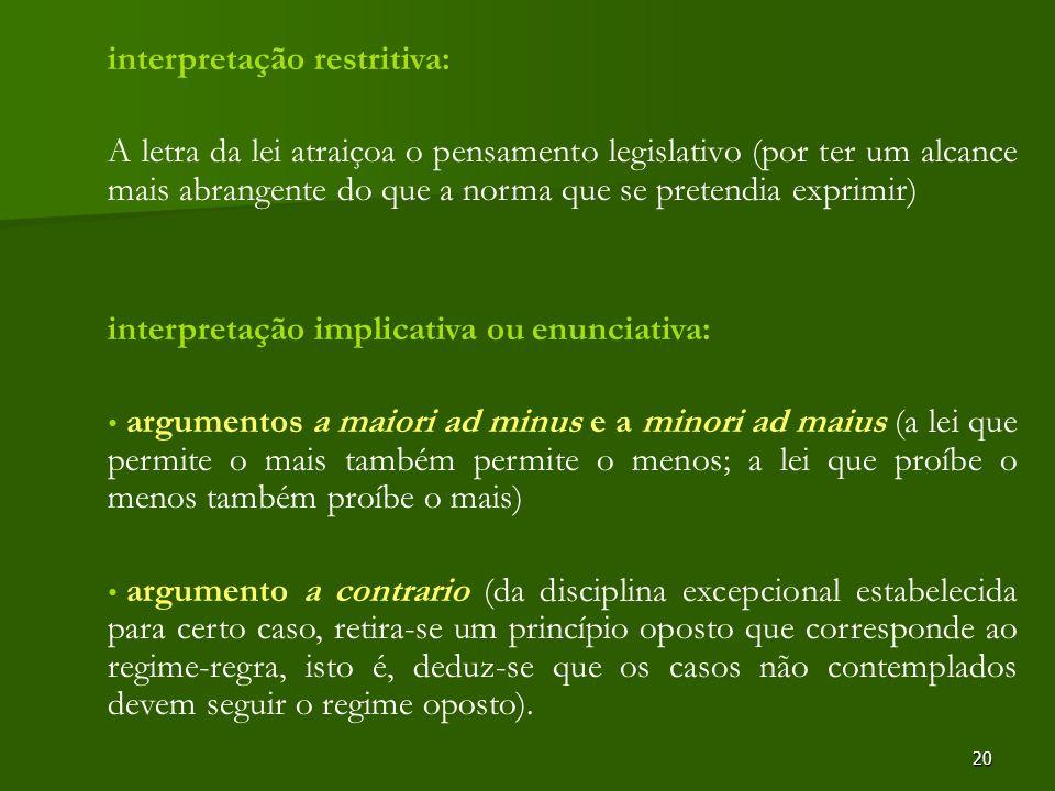 interpretação restritiva: