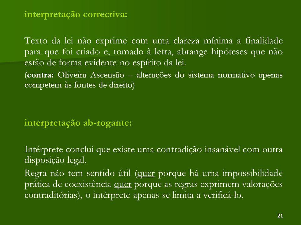interpretação correctiva: