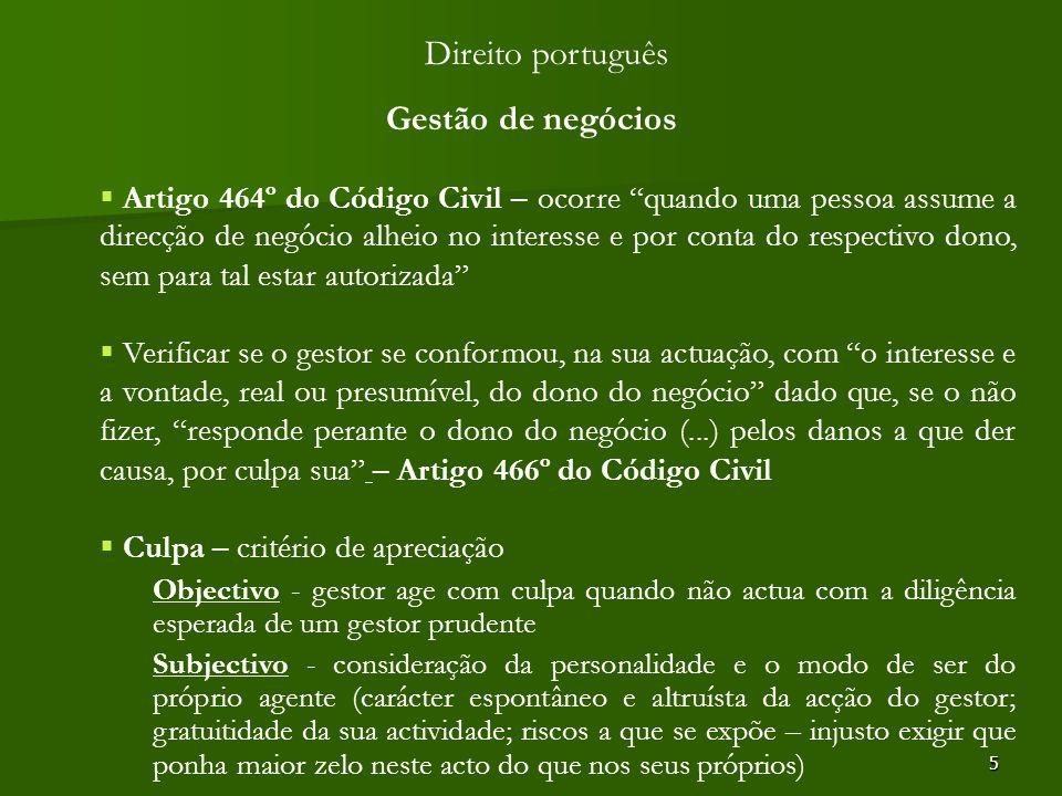 Direito português Gestão de negócios