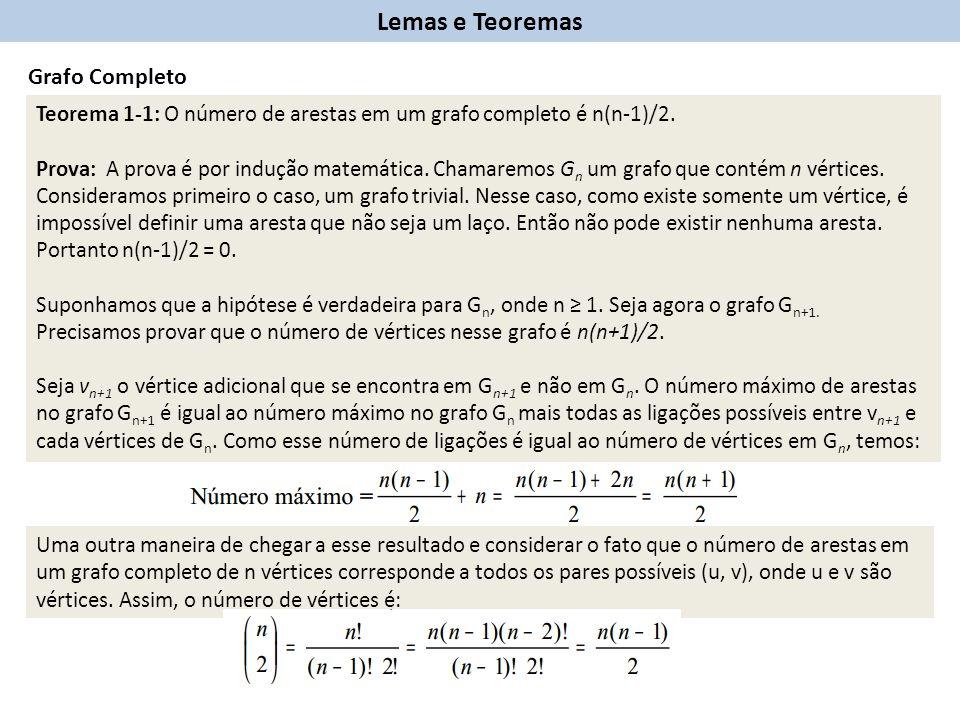 Lemas e Teoremas Grafo Completo