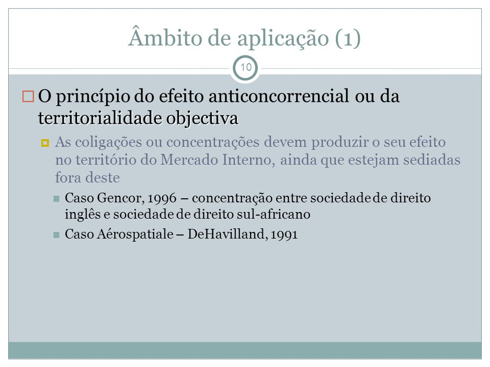 Âmbito de aplicação (1)