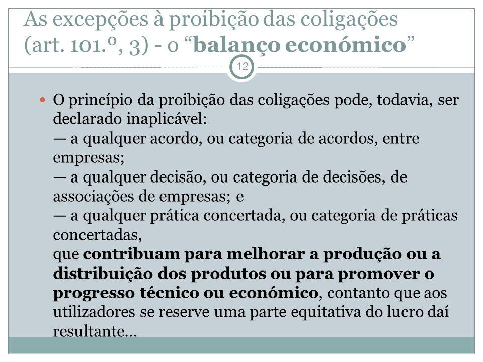 As excepções à proibição das coligações (art. 101