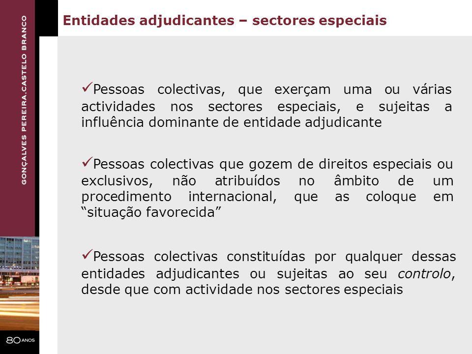 Entidades adjudicantes – sectores especiais