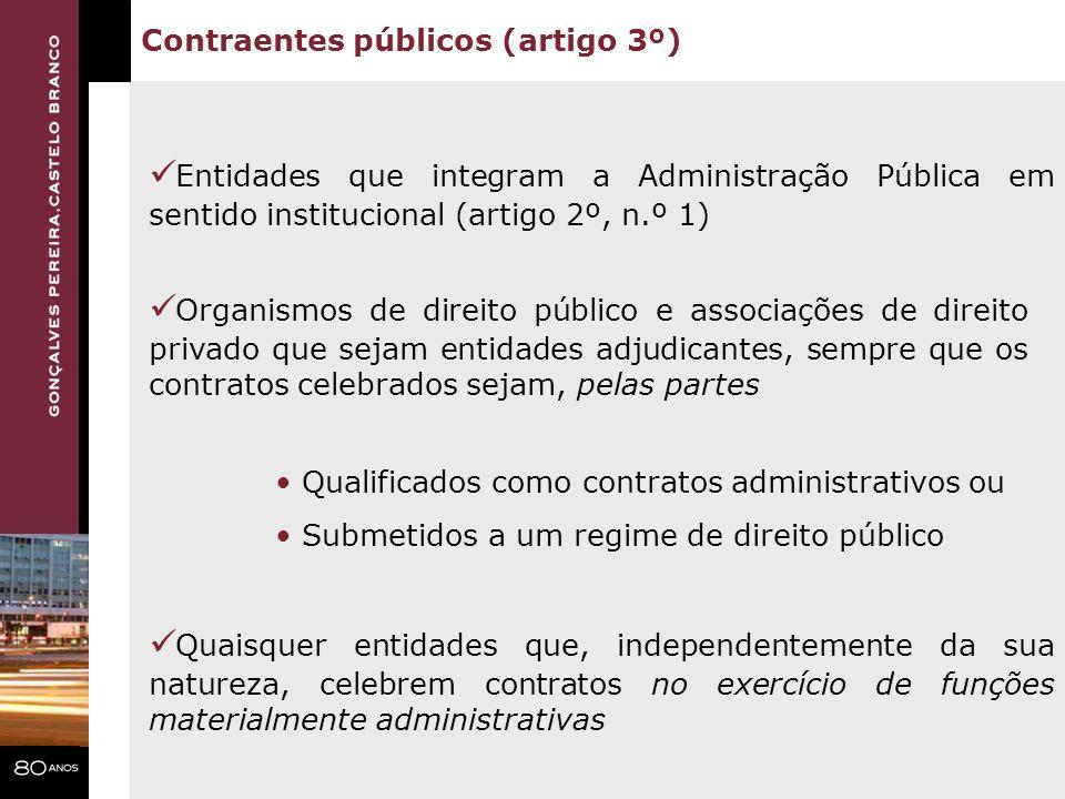 Contraentes públicos (artigo 3º)