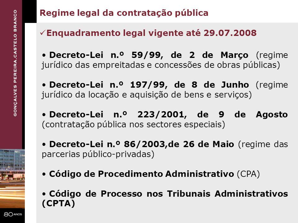 Regime legal da contratação pública