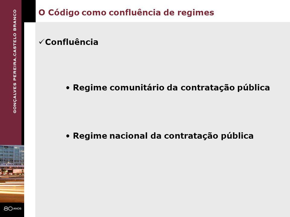 O Código como confluência de regimes
