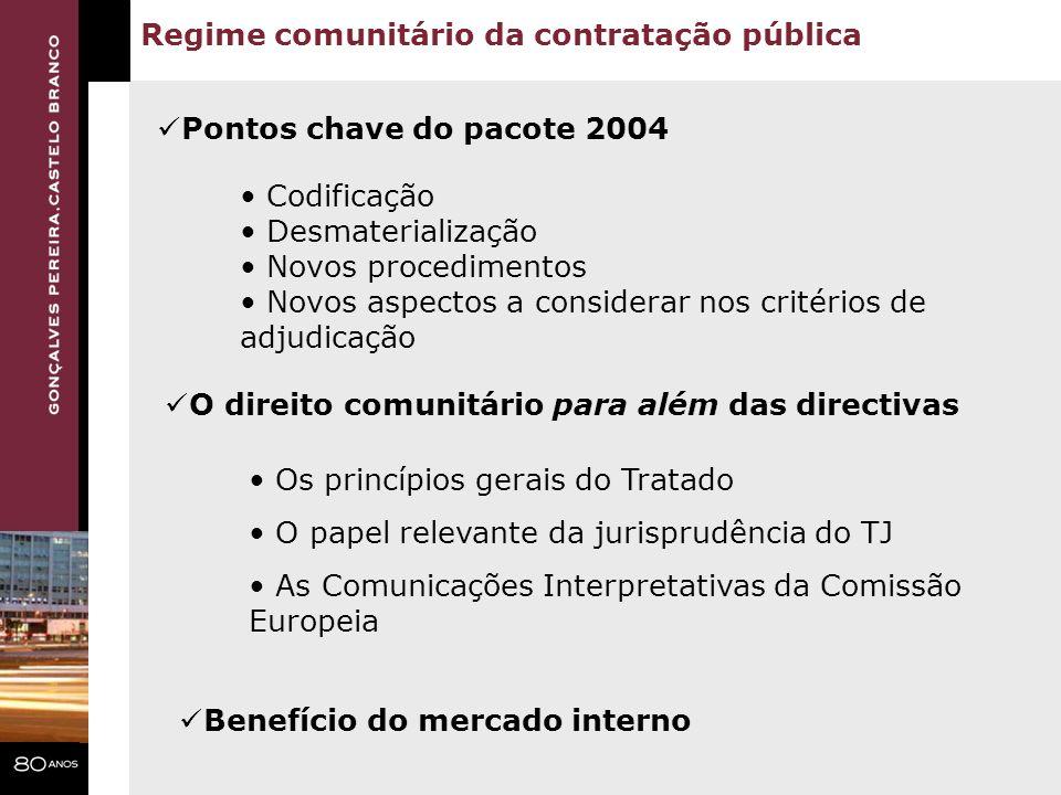 Regime comunitário da contratação pública
