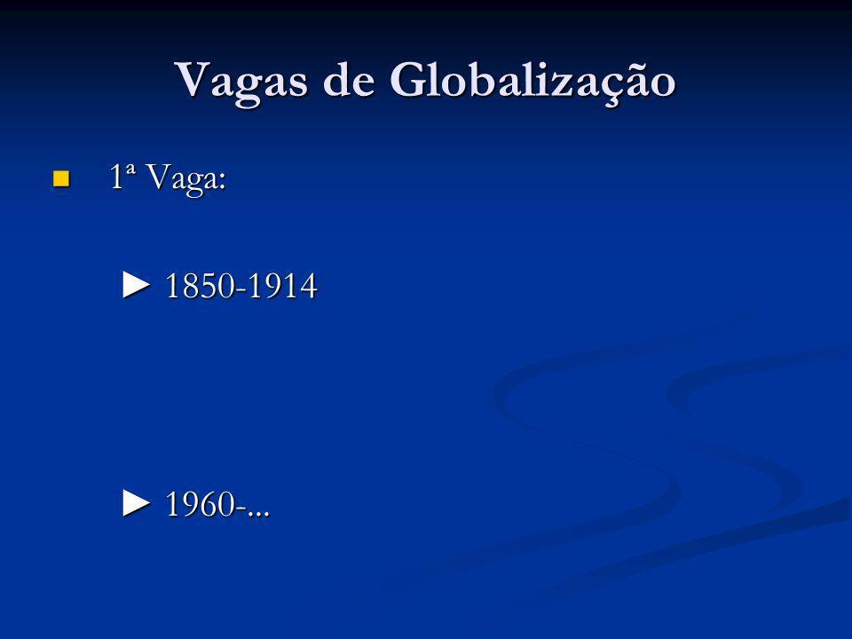 Vagas de Globalização 1ª Vaga: ► 1850-1914 ► 1960-...