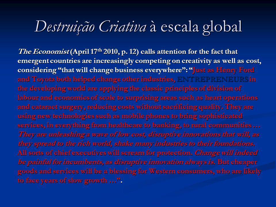Destruição Criativa à escala global