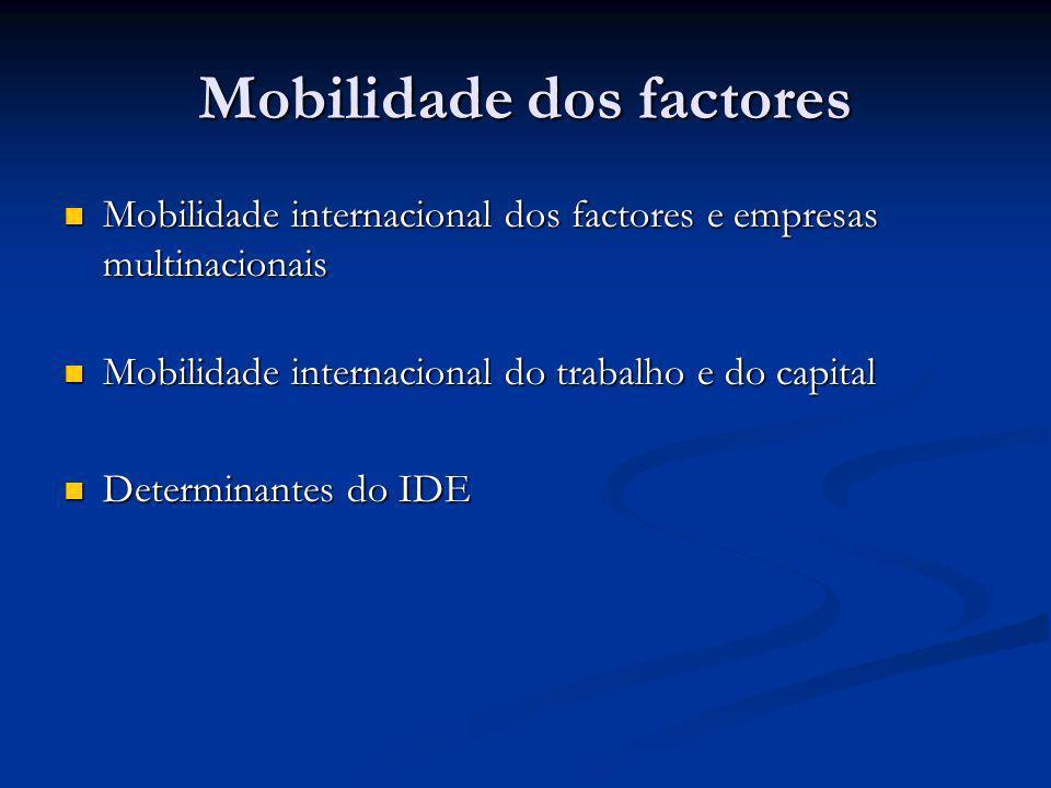 Mobilidade dos factores
