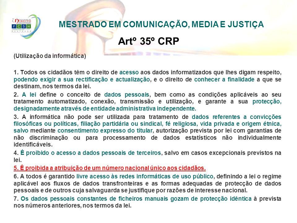 MESTRADO EM COMUNICAÇÃO, MEDIA E JUSTIÇA