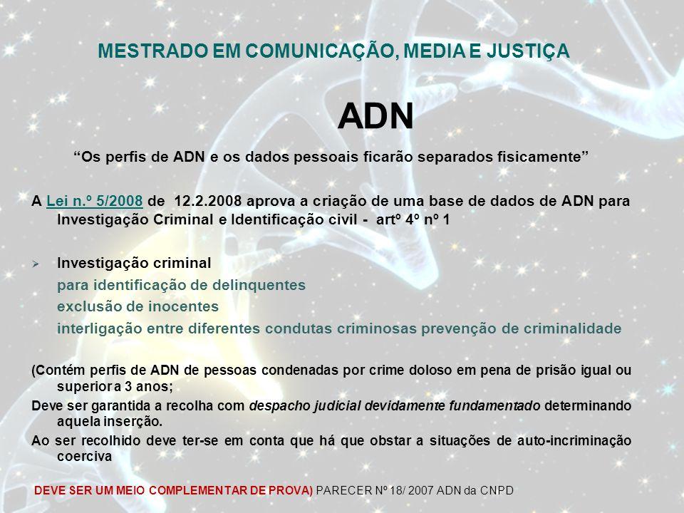 ADN MESTRADO EM COMUNICAÇÃO, MEDIA E JUSTIÇA