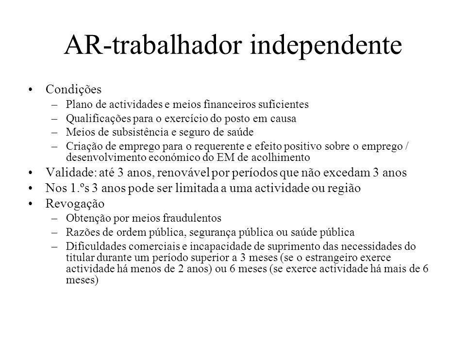 AR-trabalhador independente
