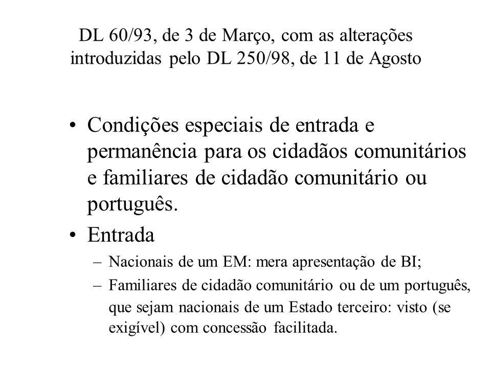 DL 60/93, de 3 de Março, com as alterações introduzidas pelo DL 250/98, de 11 de Agosto