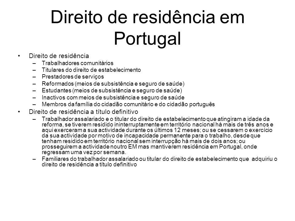 Direito de residência em Portugal