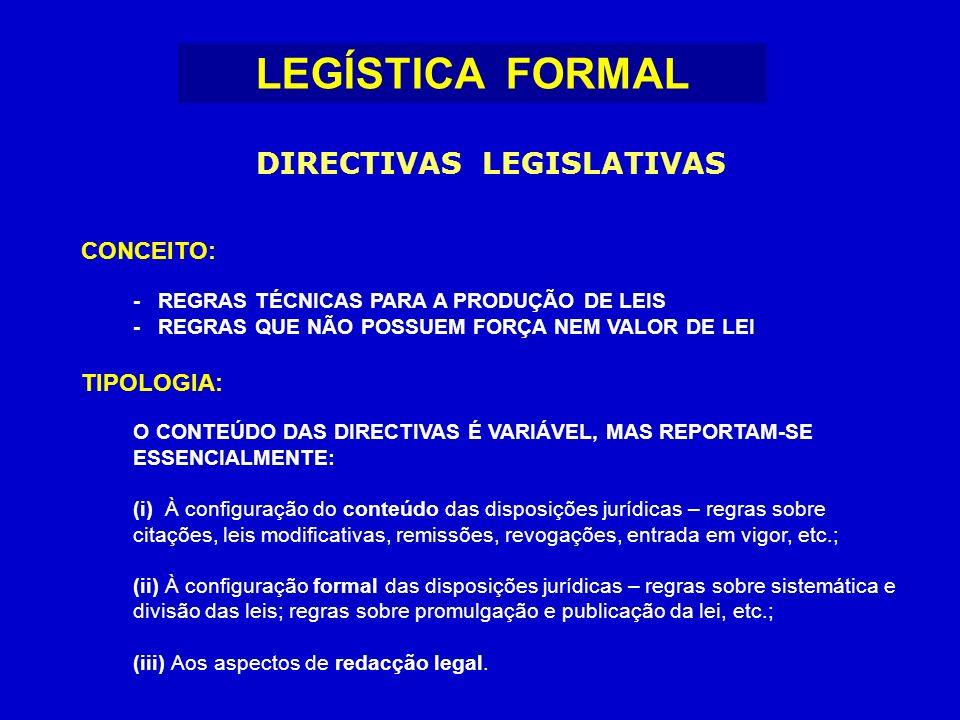 DIRECTIVAS LEGISLATIVAS