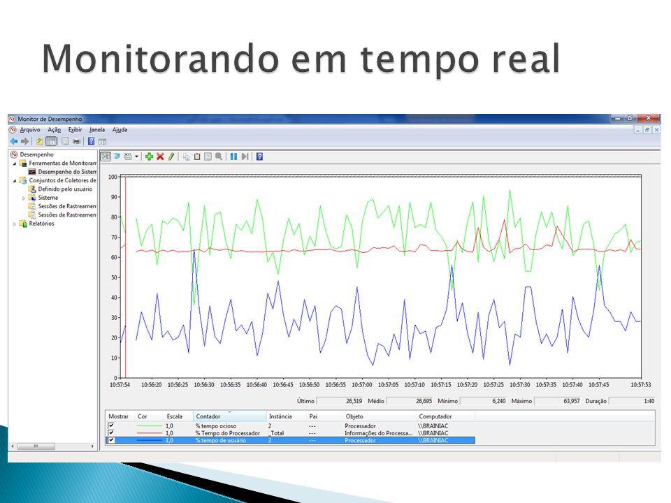 Monitorando em tempo real