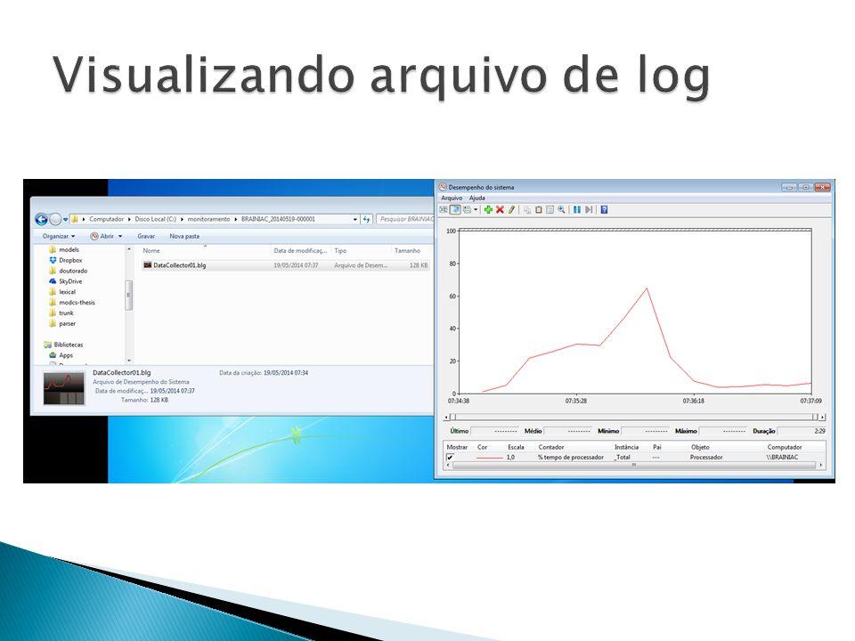 Visualizando arquivo de log