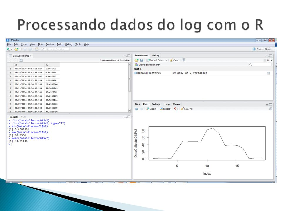 Processando dados do log com o R