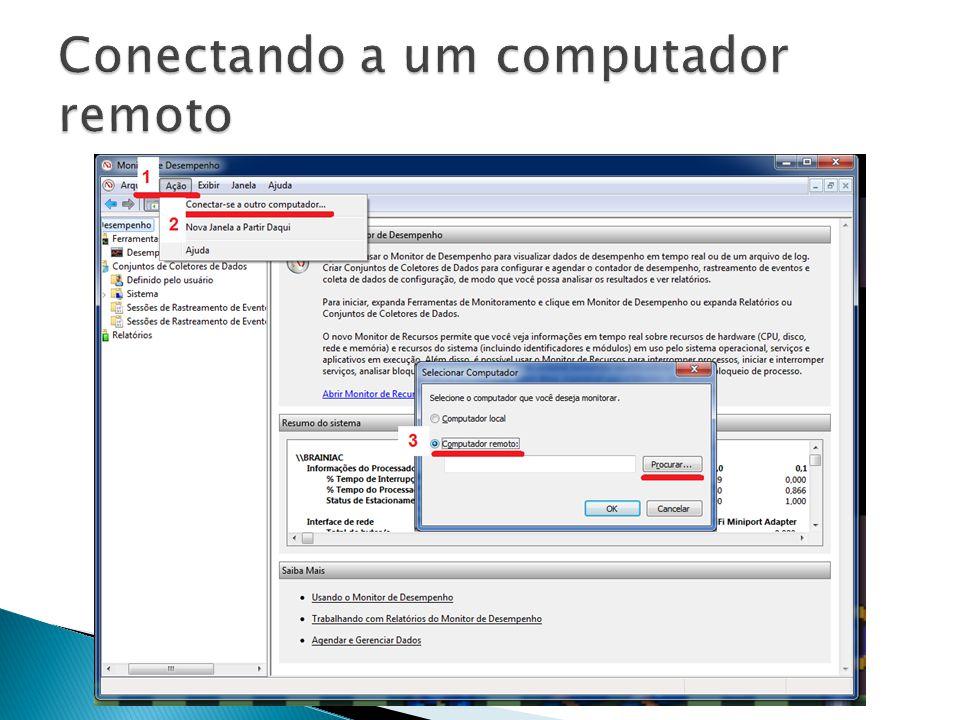 Conectando a um computador remoto