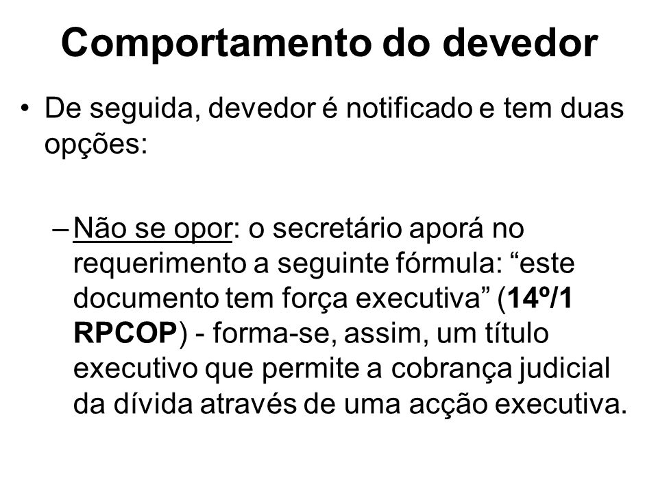 Comportamento do devedor
