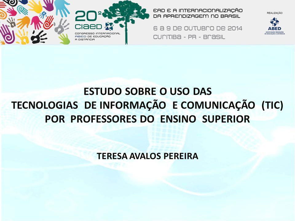 Estudo sobre o uso das TECNOLOGIAS DE INFORMAÇÃO E COMUNICAÇÃO (TIC) POR PROFESSORES DO ENSINO SUPERIOR