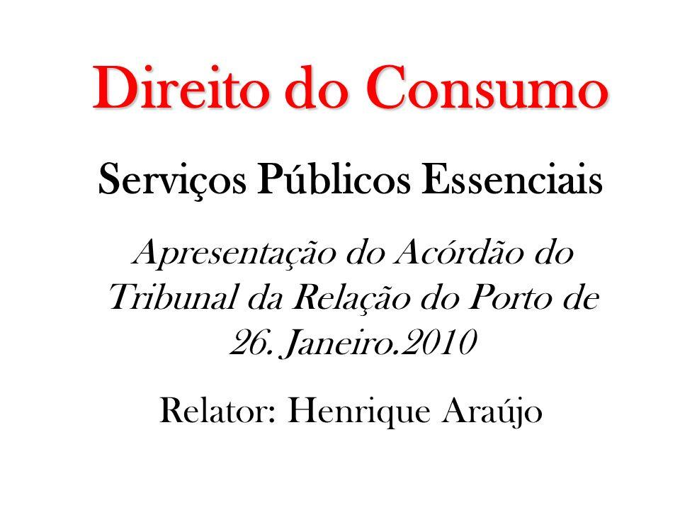 Serviços Públicos Essenciais