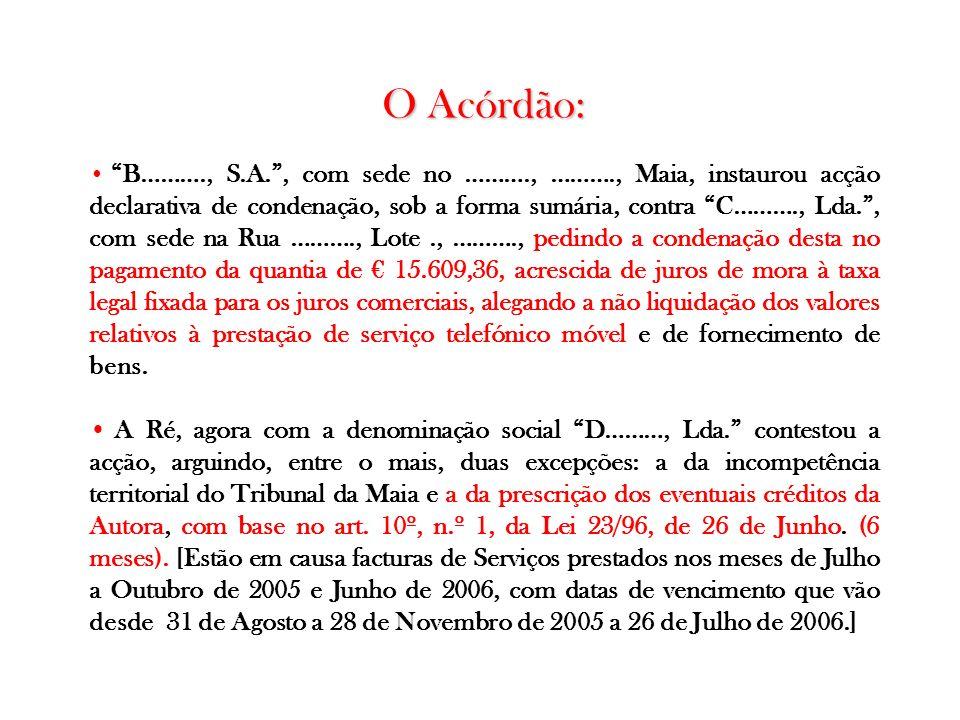 O Acórdão: