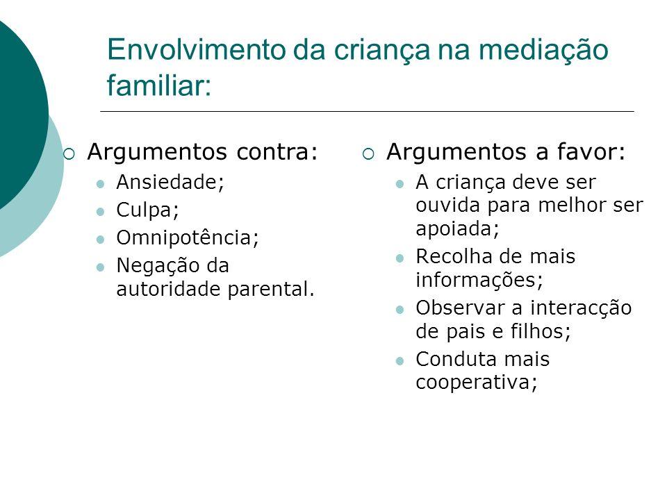 Envolvimento da criança na mediação familiar: