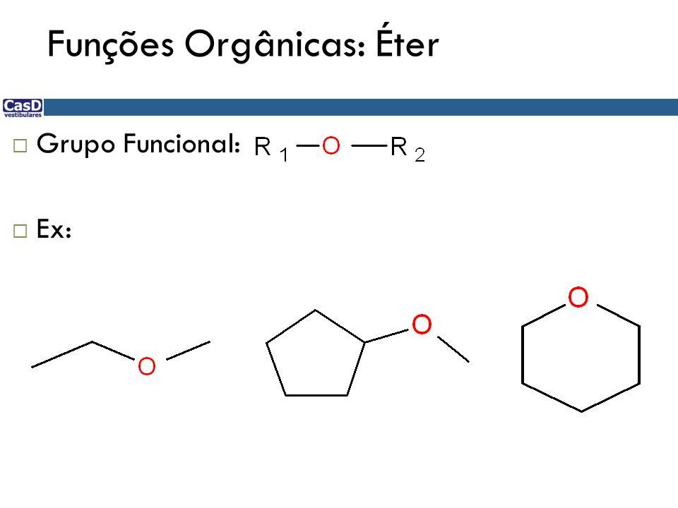 Funções Orgânicas: Éter