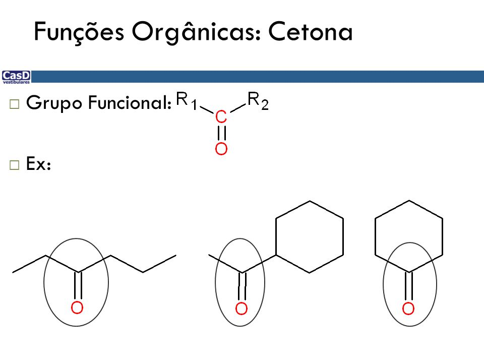 Funções Orgânicas: Cetona