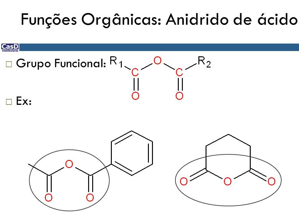 Funções Orgânicas: Anidrido de ácido