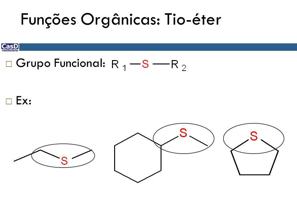 Funções Orgânicas: Tio-éter