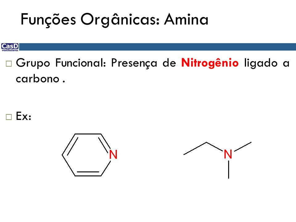 Funções Orgânicas: Amina