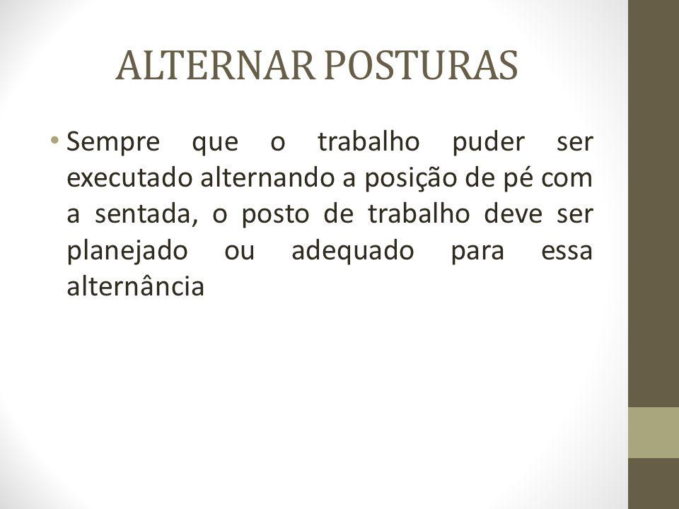 ALTERNAR POSTURAS