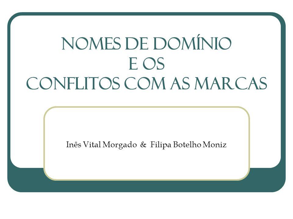 Nomes de Domínio e OS CONFLITOS COM AS Marcas