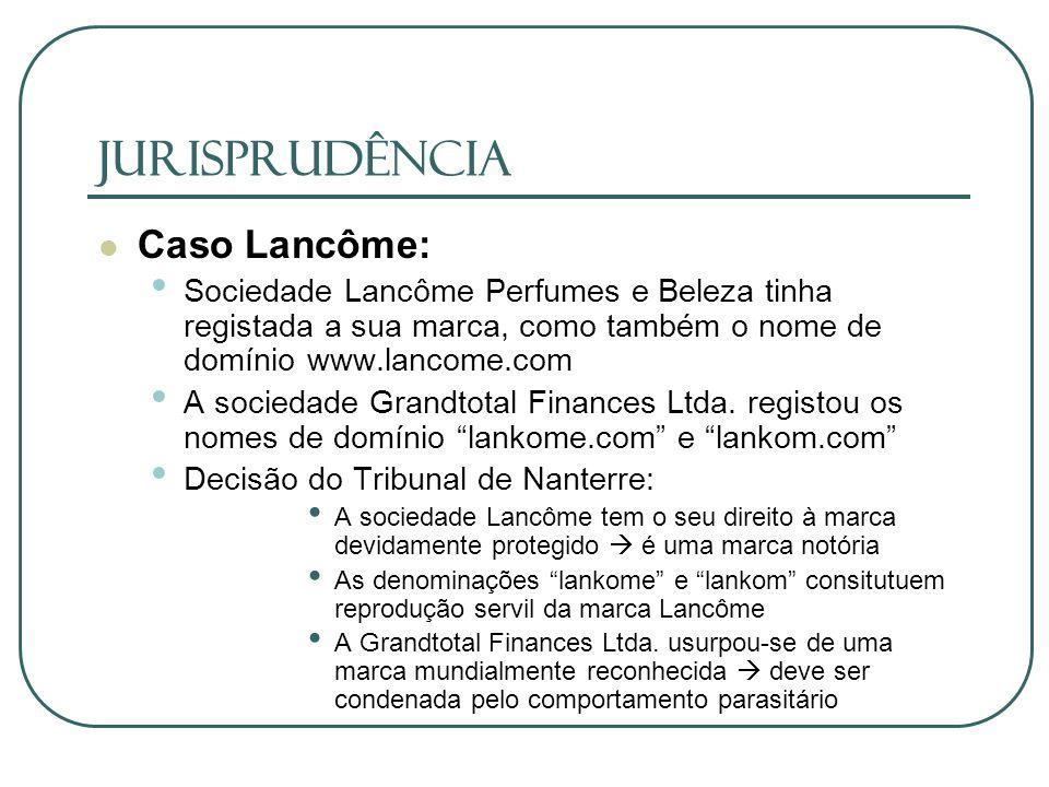 JURISPRUDÊNCIA Caso Lancôme: