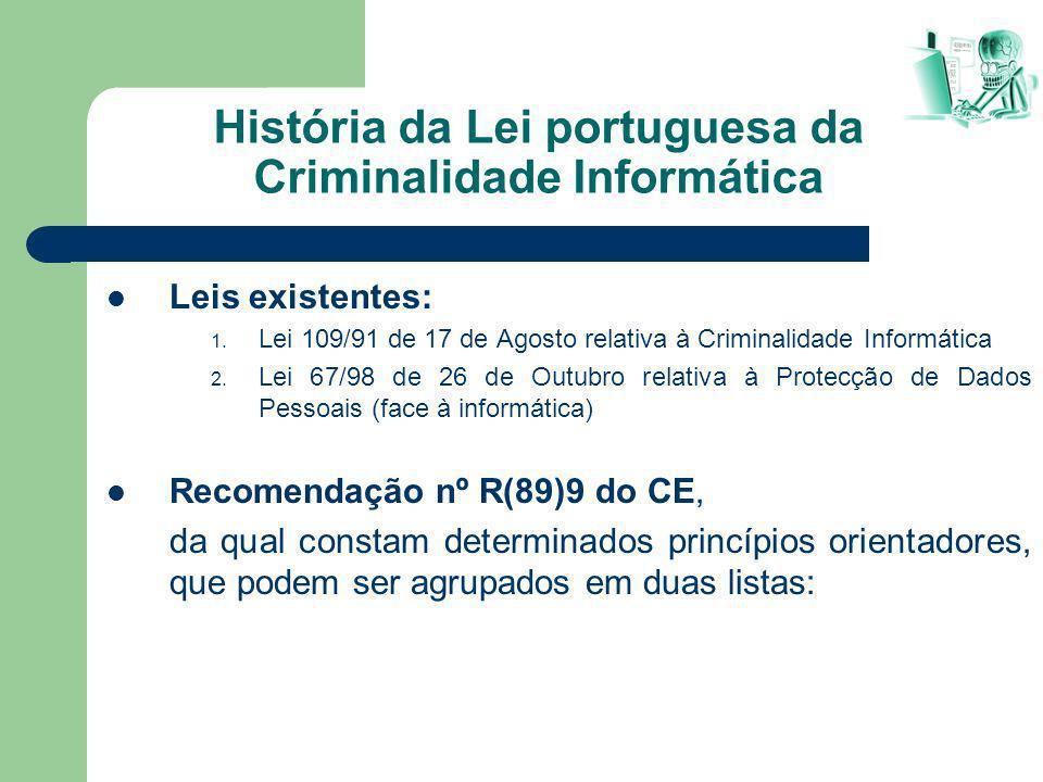 História da Lei portuguesa da Criminalidade Informática
