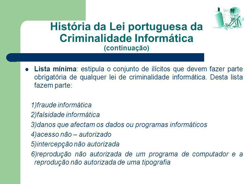 História da Lei portuguesa da Criminalidade Informática (continuação)