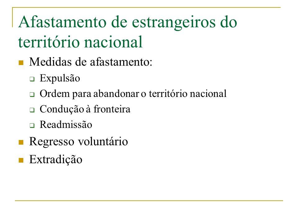 Afastamento de estrangeiros do território nacional