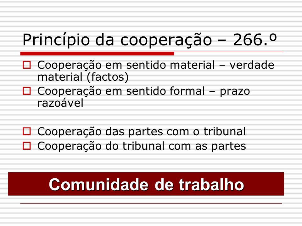 Princípio da cooperação – 266.º