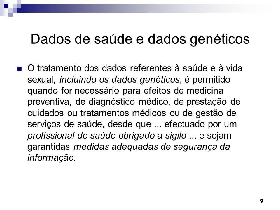 Dados de saúde e dados genéticos