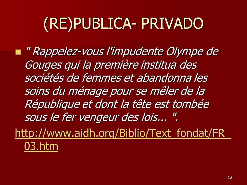 (RE)PUBLICA- PRIVADO