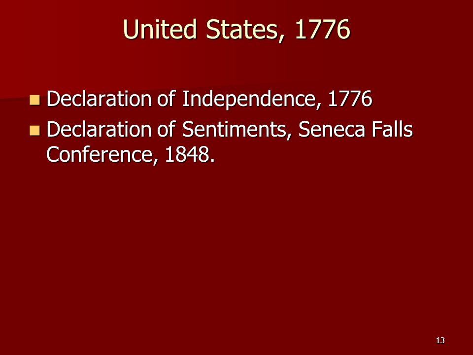 United States, 1776 Declaration of Independence, 1776